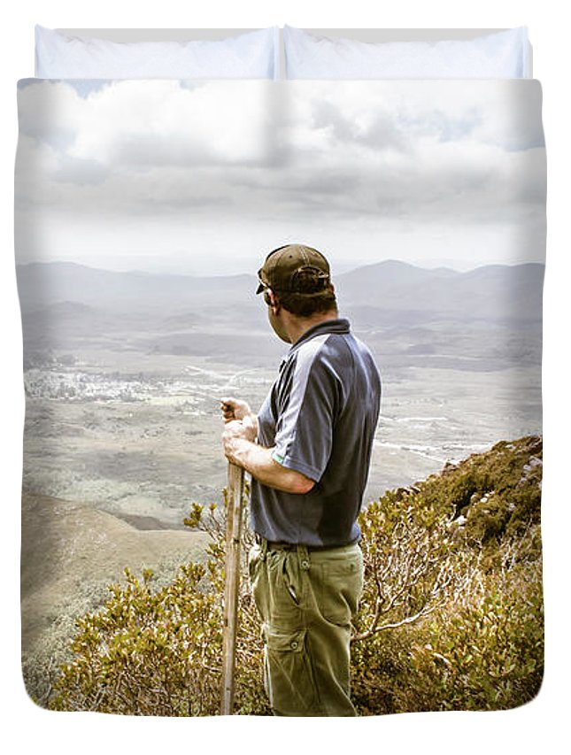 Zeehan Duvet Cover featuring the photograph Explore Tasmania by Jorgo Photography - Wall Art Gallery