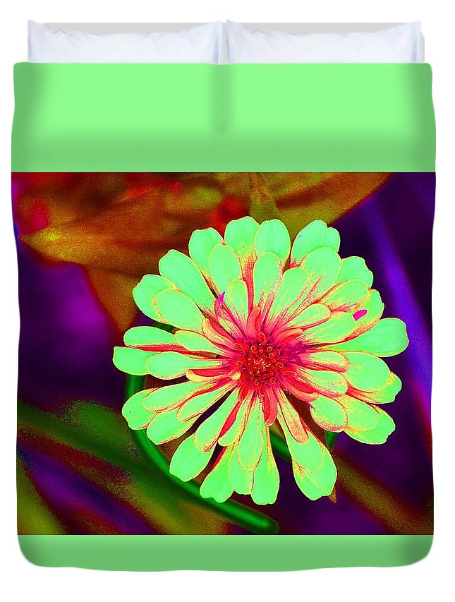 Explosion Duvet Cover featuring the photograph Explosion by Rachel Rutstein