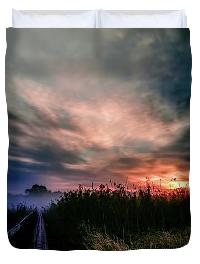 Explosive Duvet Cover featuring the photograph Explosive Morning #h0 by Leif Sohlman