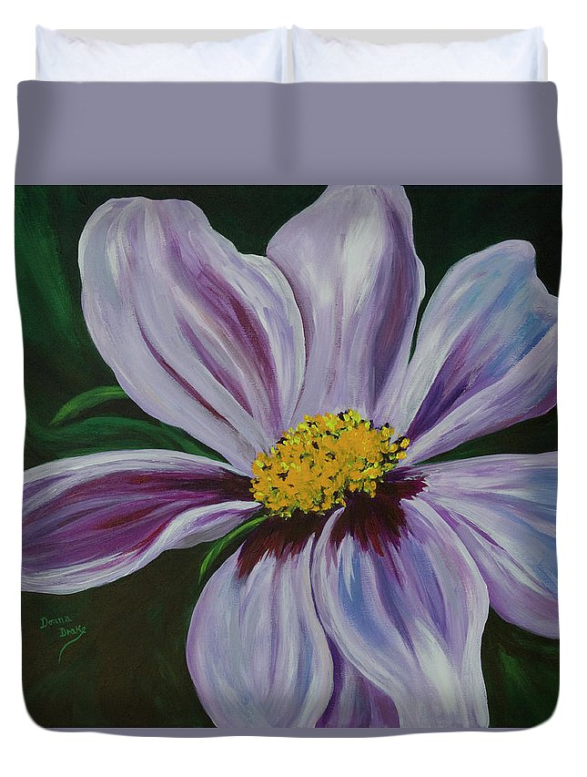 Floral Duvet Cover featuring the painting Exquisite by Donna Drake