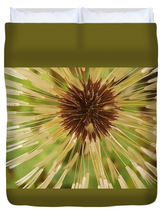 Dandlion Duvet Cover featuring the photograph Extreme Dandelion by Rusty Gentry