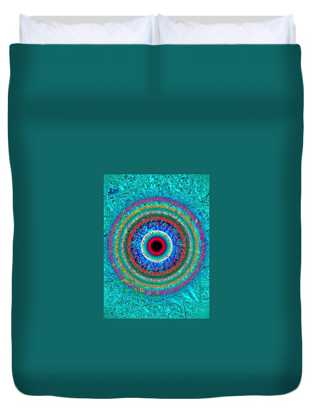 Eye Duvet Cover featuring the painting EYE by David Lee Thompson