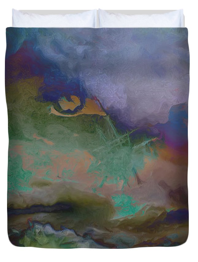 Duvet Cover featuring the painting Eye Of The Storm by Damiano Navanzati