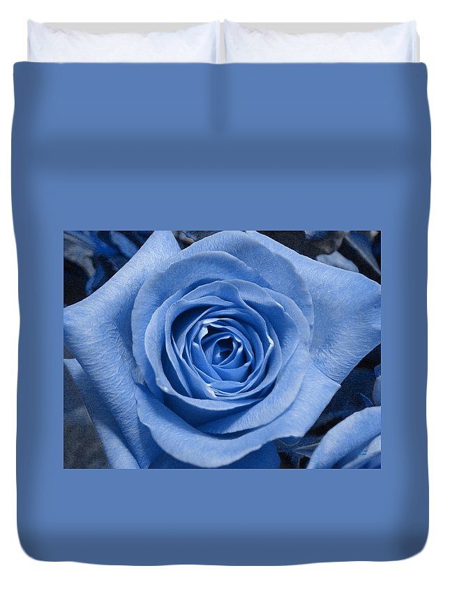 Rose Duvet Cover featuring the photograph Eye Wide Open by Shelley Jones