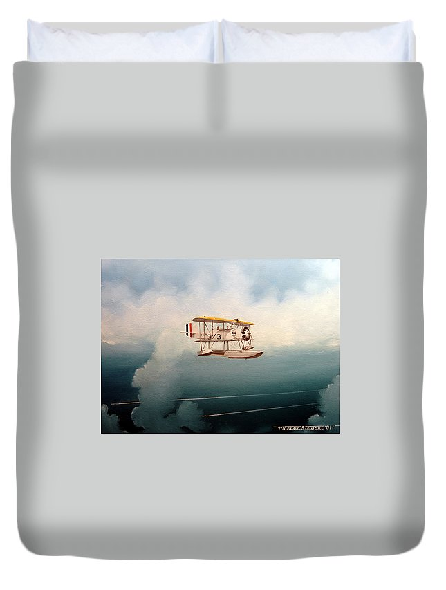 Military Duvet Cover featuring the painting Eyes Of The Fleet by Marc Stewart