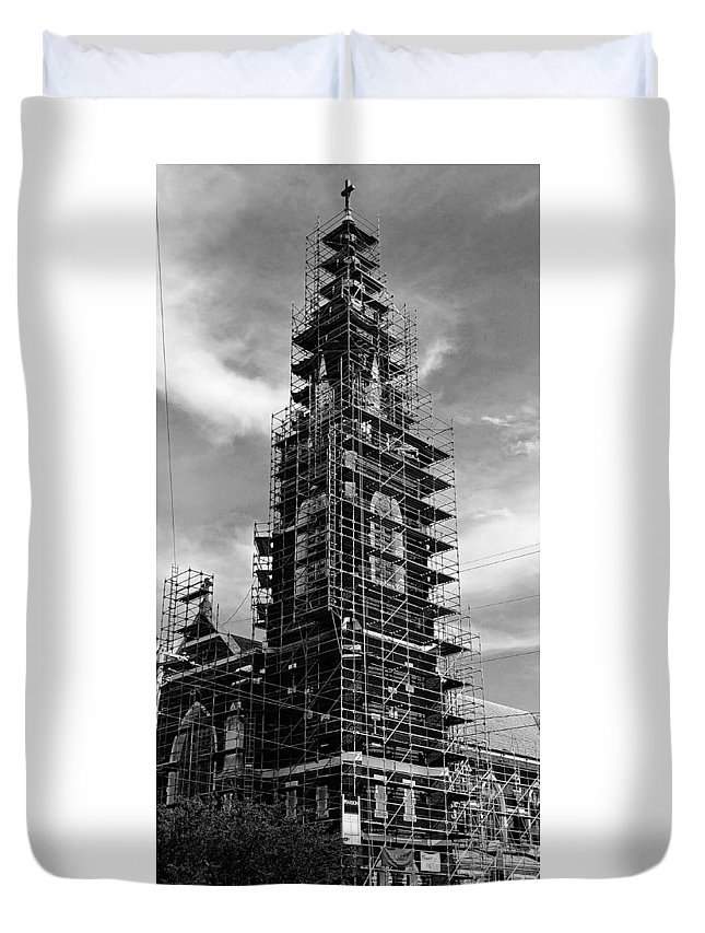 Church Duvet Cover featuring the photograph Face Lift by Constance Lang