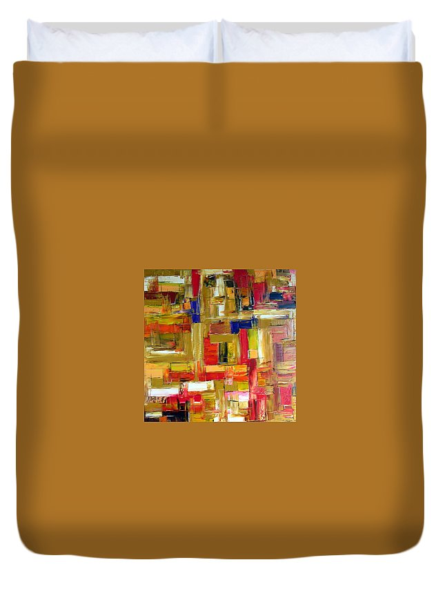 Face Of The Abyss Duvet Cover featuring the painting Face Of The Abyss by Dawn Hough Sebaugh