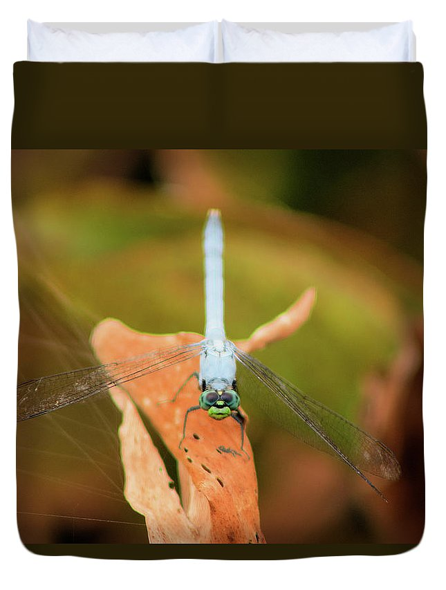 Dragonfly Duvet Cover featuring the photograph Face Of The Dragon by Karl Ford