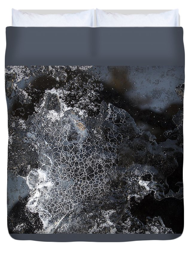 Abstract Duvet Cover featuring the photograph Faces Of Frost by Michele Cornelius