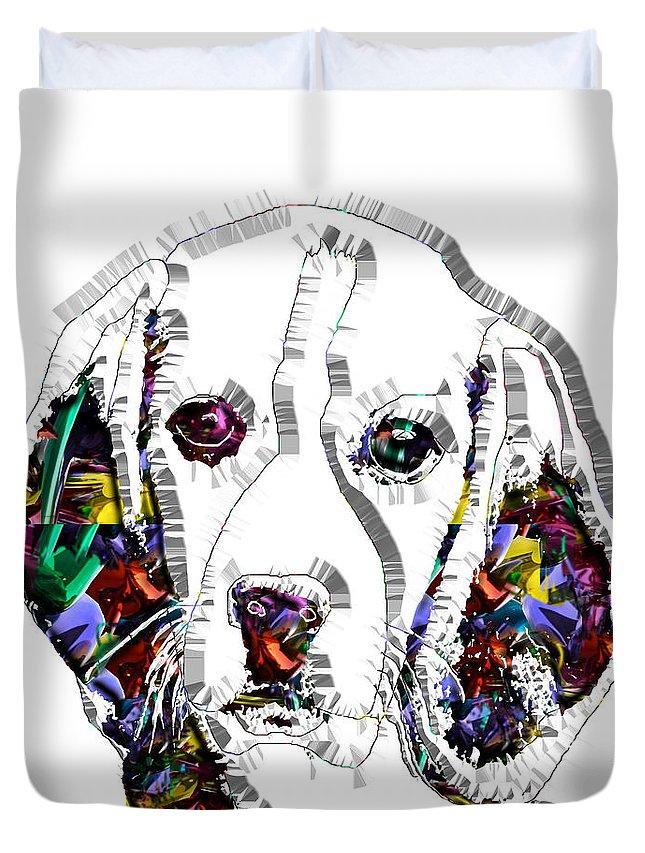 Pop Art Duvet Cover featuring the digital art Faces Of Life 37 Beagle by Dalon Ryan