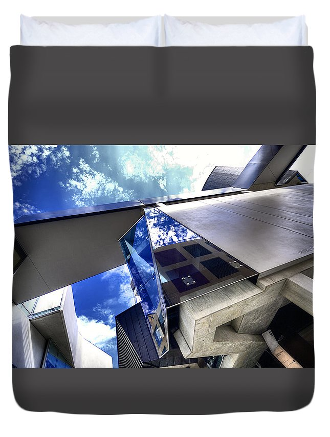 Architecture Duvet Cover featuring the photograph Facetted by Wayne Sherriff