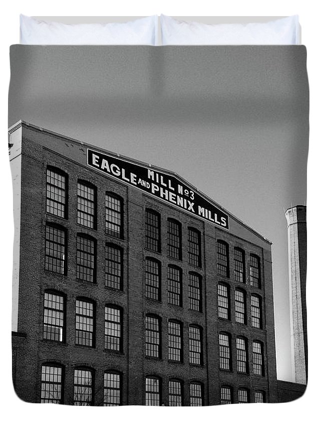 Architecture Duvet Cover featuring the photograph Factory by Dick Goodman