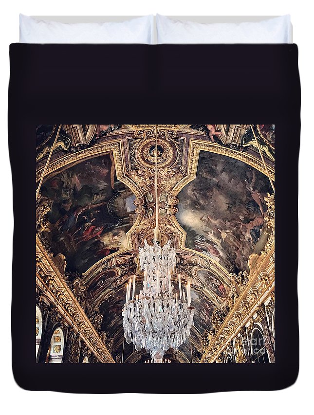 Versailles Duvet Cover featuring the photograph Faded Chandelier by Rachel Gilman