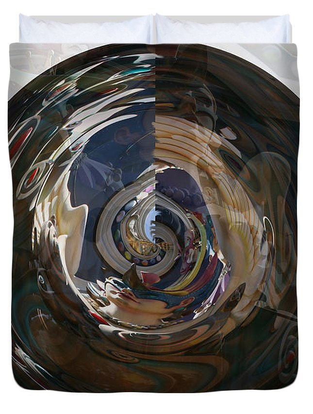 Women Lady Girl World Space Portal Relm Escape Abstract Duvet Cover featuring the photograph Faded Lady by Andrea Lawrence