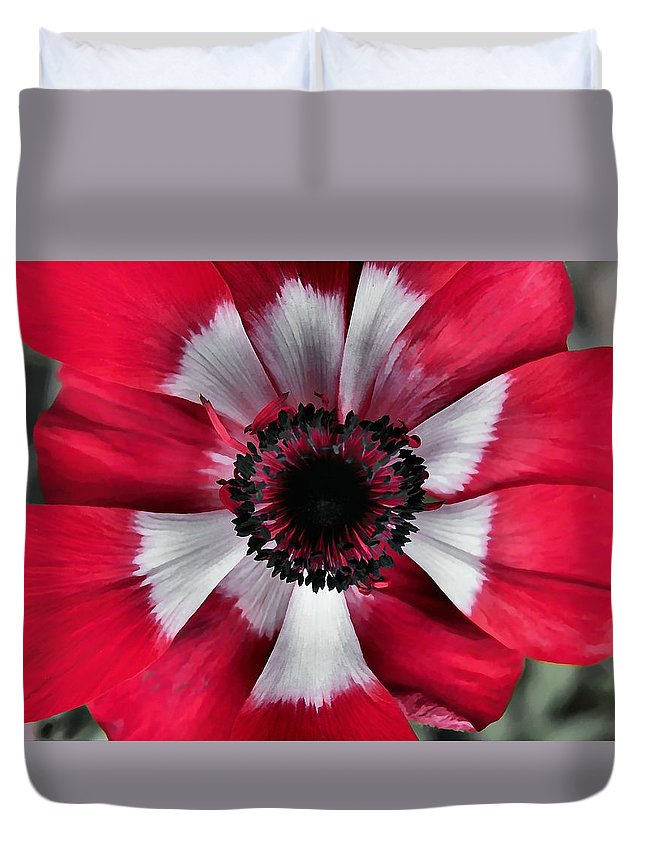 Red Duvet Cover featuring the photograph Fading Away by JAMART Photography