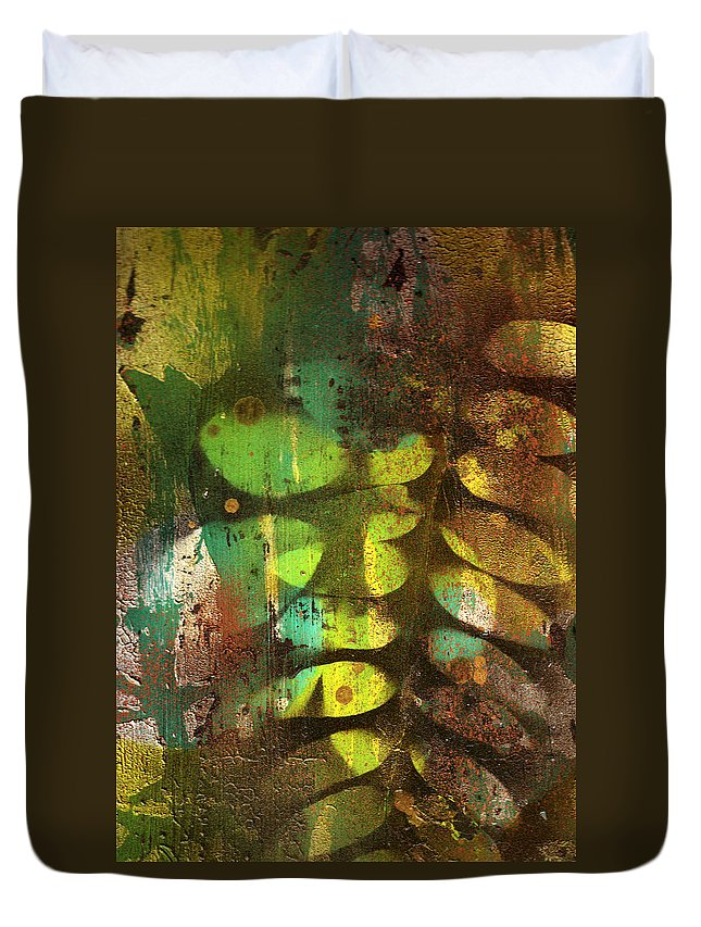 Leaves Duvet Cover featuring the painting Fading Memories by Wayne Potrafka