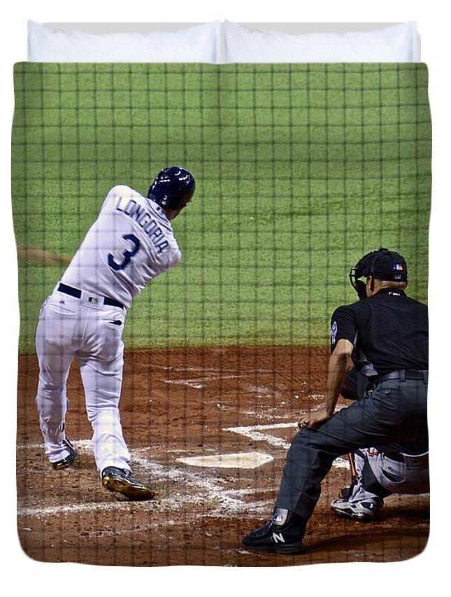 Baseball Duvet Cover featuring the photograph Fair Ball by Carol Bradley