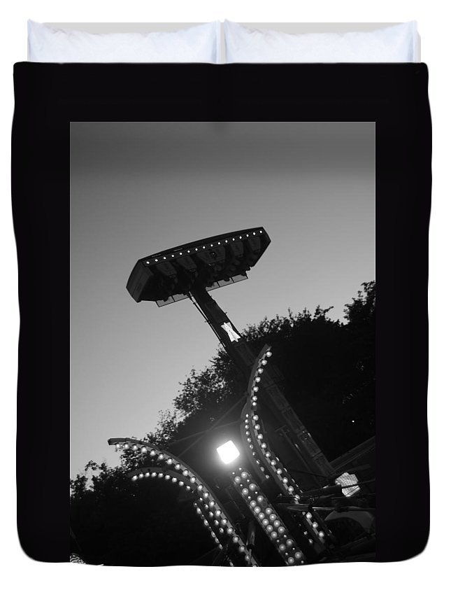 Black And White Photography Duvet Cover featuring the photograph Fair Call by Trish Hale