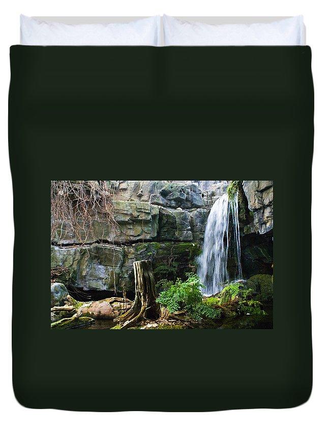 Waterfall Duvet Cover featuring the photograph Fairy Waterfall by Douglas Barnett