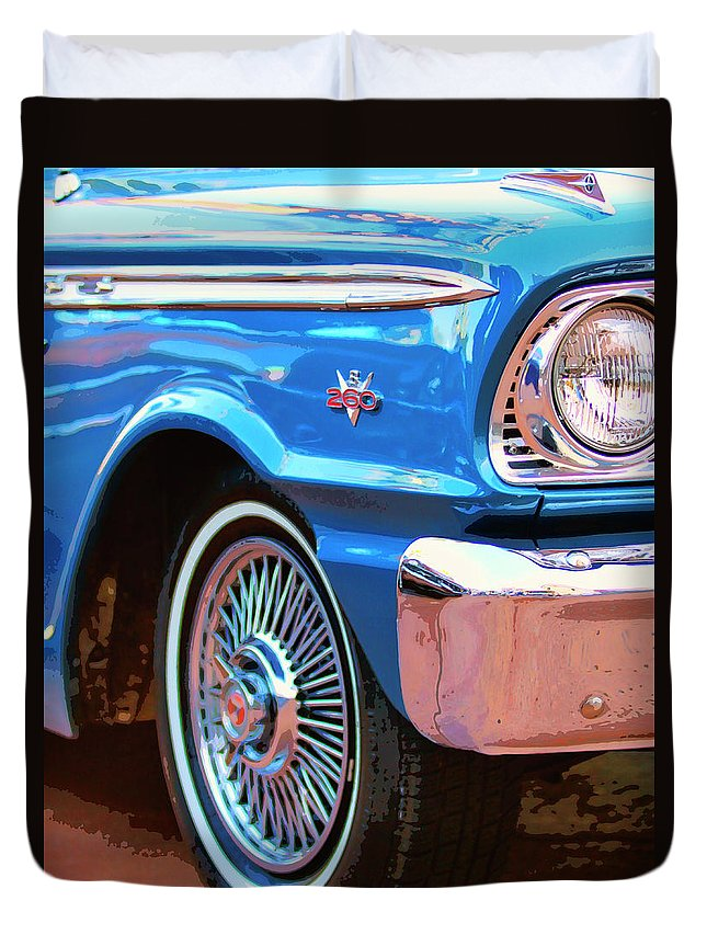 Classic Cars Duvet Cover featuring the photograph Falcon Crest by William Dey
