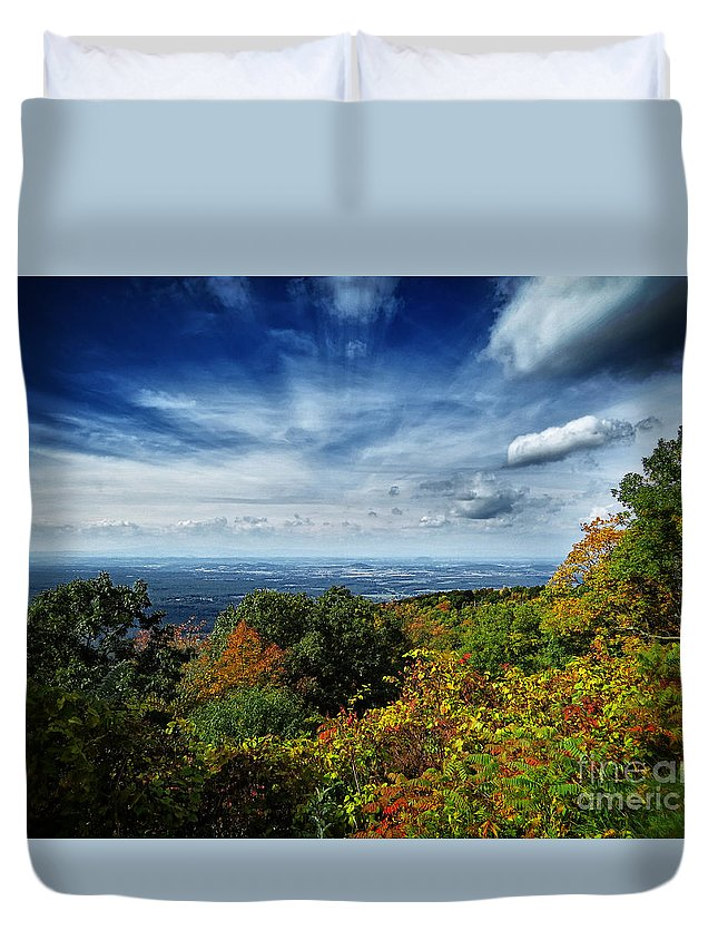 Nature Duvet Cover featuring the photograph Fall Blue Ridge Parkway by Dawn Gari