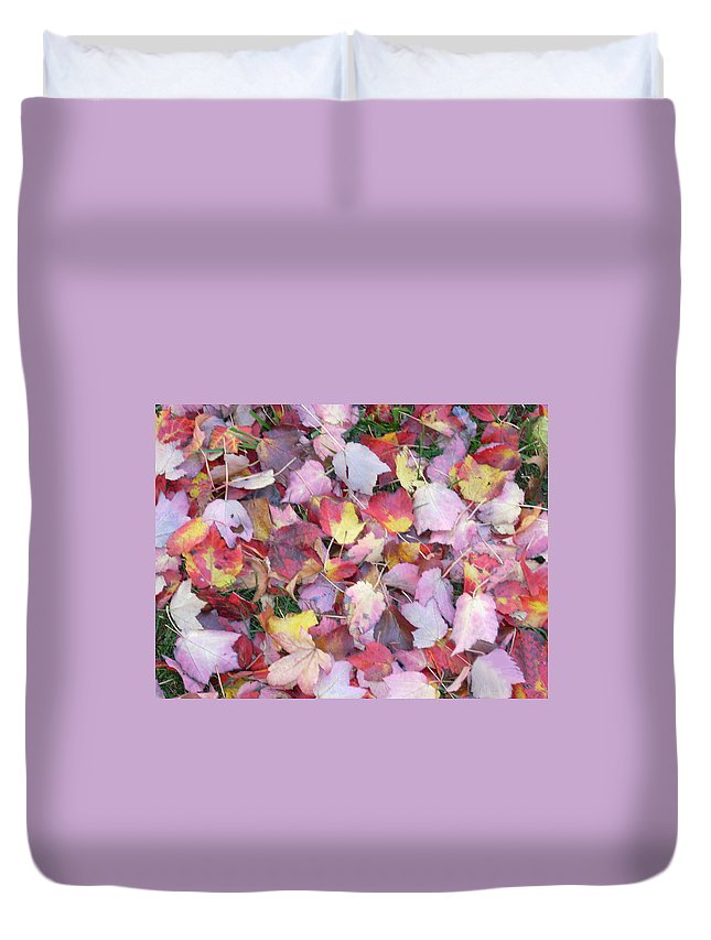 Duvet Cover featuring the photograph Fall Carpet by Karin Dawn Kelshall- Best