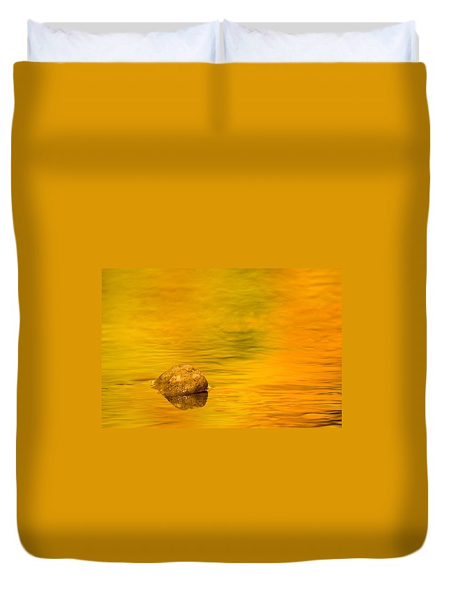 3scape Photos Duvet Cover featuring the photograph Fall Color Abstract by Adam Romanowicz