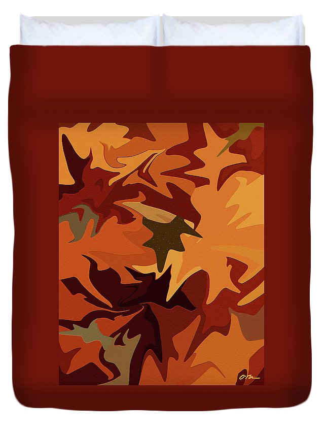 Fall Duvet Cover featuring the digital art Fall Colors by Claudia O'Brien