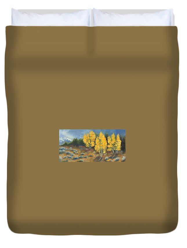 Landscape Duvet Cover featuring the painting Fall Delight by Jerry McElroy