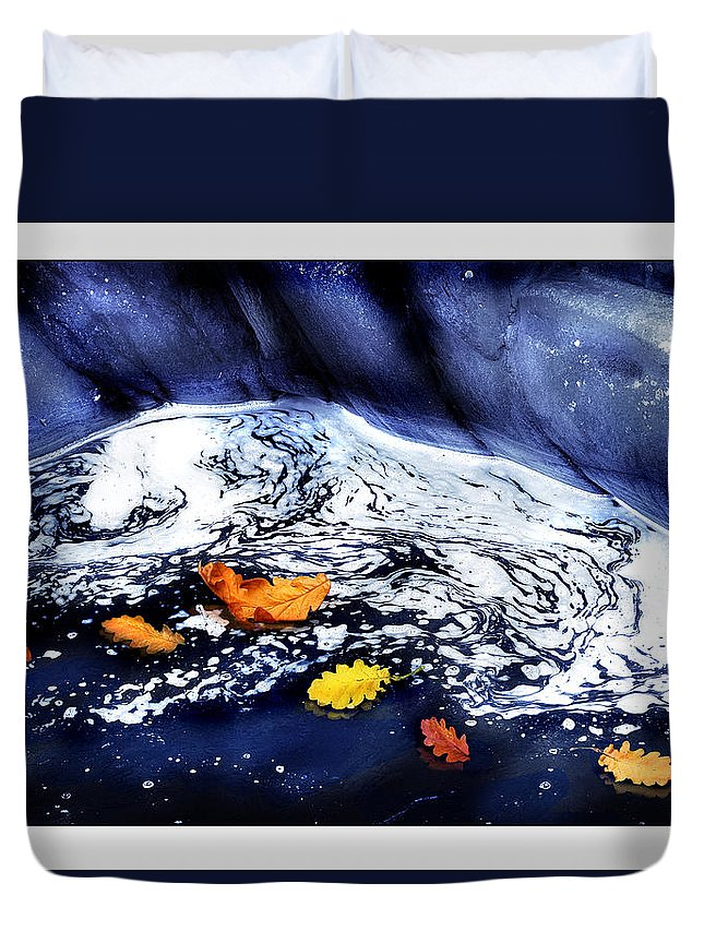 Fall Duvet Cover featuring the photograph Fall Flotilla by Mal Bray