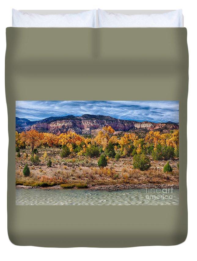 2012 Duvet Cover featuring the photograph Fall Foliage Near Ghost Ranch by Matt Suess