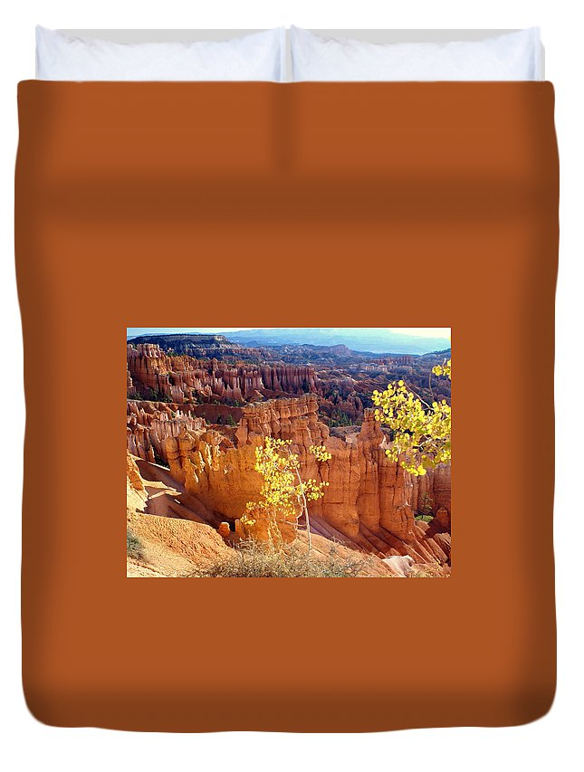 Bryce Canyon National Park Duvet Cover featuring the photograph Fall In Bryce Canyon by Marty Koch