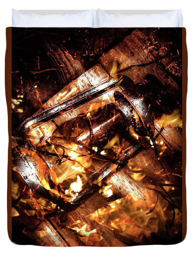 Fire Duvet Cover featuring the photograph Fall In Fire by Jorgo Photography - Wall Art Gallery