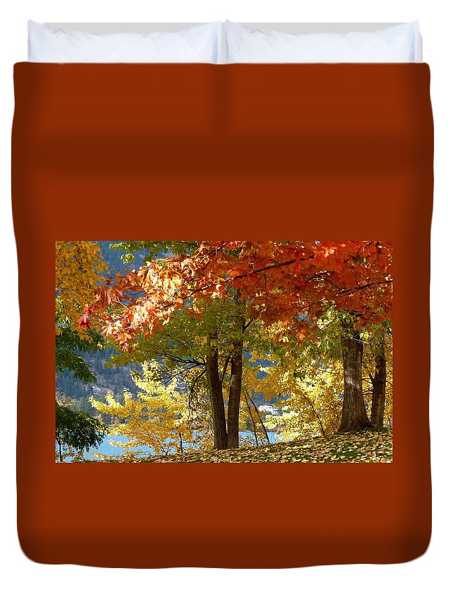 Kaloya Park Duvet Cover featuring the photograph Fall In Kaloya Park 4 by Will Borden