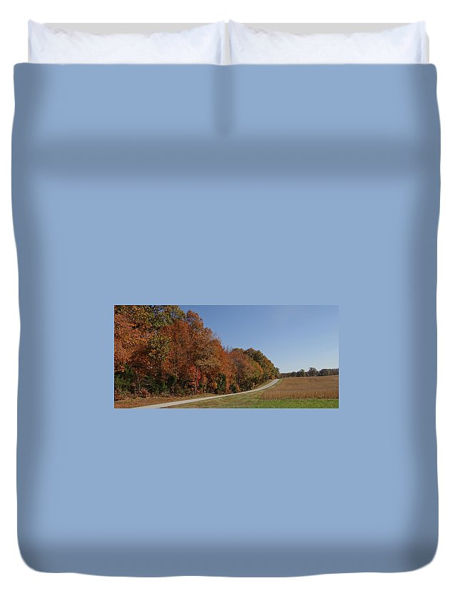 Fall Duvet Cover featuring the photograph Fall In The Country by Deb Rassel
