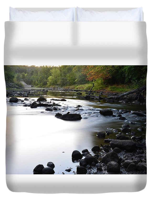 Long Exposure Duvet Cover featuring the photograph Fall by Justin Langford