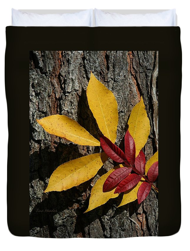 Fall Duvet Cover featuring the photograph Fall Leaves by Tina Meador