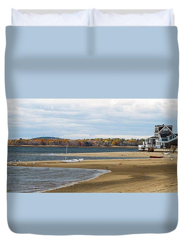 Massachusetts Duvet Cover featuring the photograph Fall On Plum Island by David Goodwin