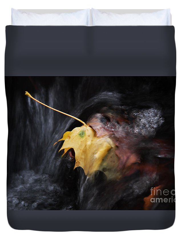 Water Duvet Cover featuring the photograph Fall by Rikard Olsson