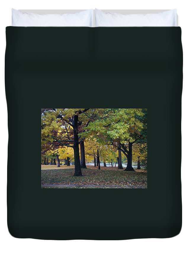 Fall Duvet Cover featuring the photograph Fall Series 14 by Anita Burgermeister