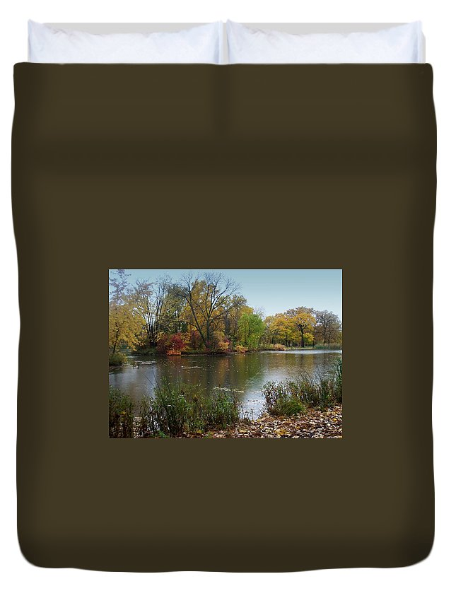 Fall Duvet Cover featuring the photograph Fall Series 8 by Anita Burgermeister