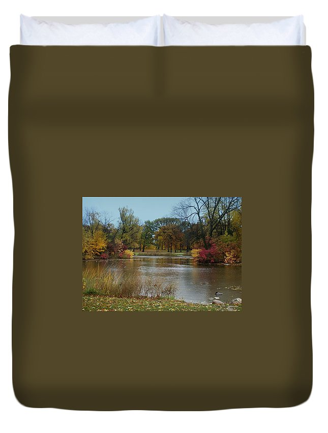 Fall Duvet Cover featuring the photograph Fall Series 9 by Anita Burgermeister