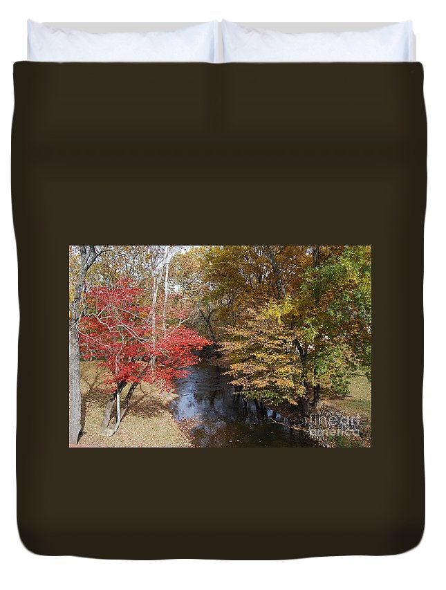 Fall Duvet Cover featuring the photograph Fall Transition by Eric Liller