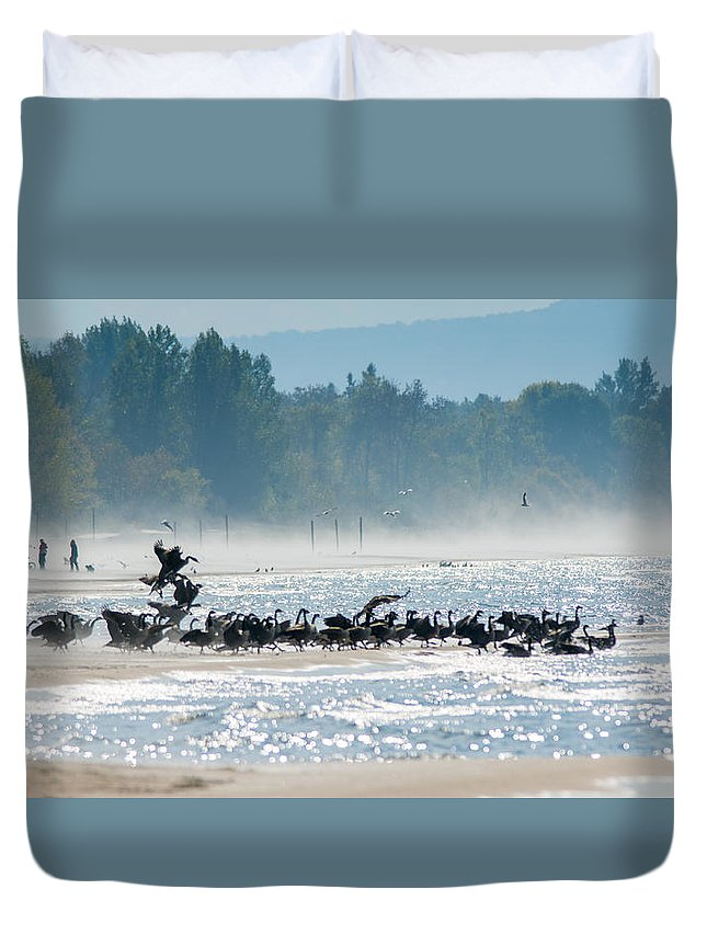 Landscape Duvet Cover featuring the photograph Fall Wasaga Beach by Richard Kitchen