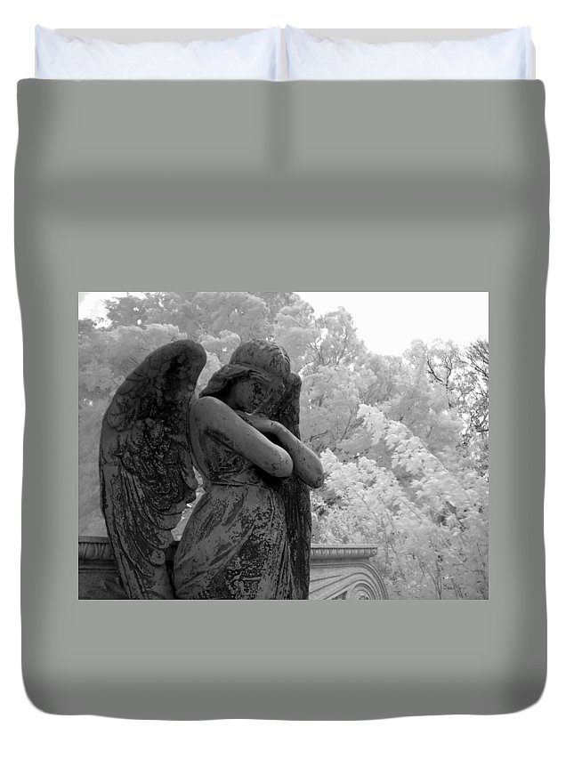 Infrared Photography Duvet Cover featuring the photograph Fallen Angel by Jane Linders
