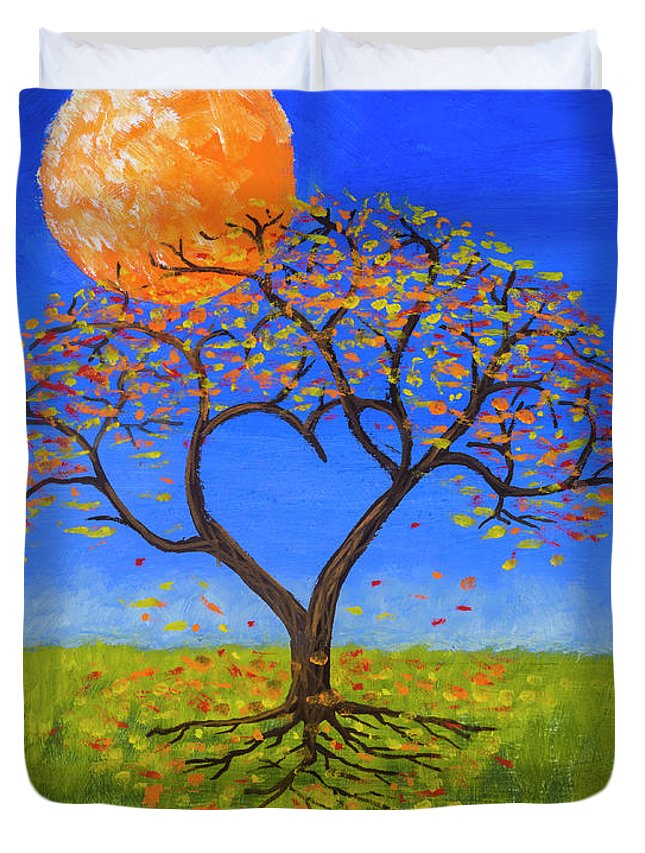 Full Moon Paintings Duvet Covers
