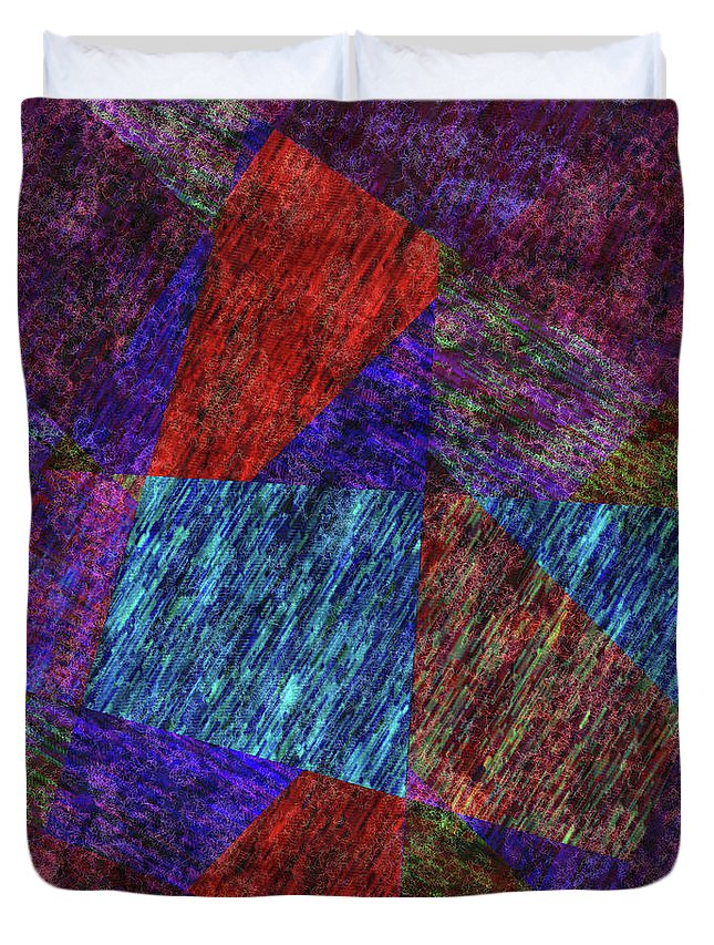 Digital Art Duvet Cover featuring the digital art Falling Lashes by John Kaiser
