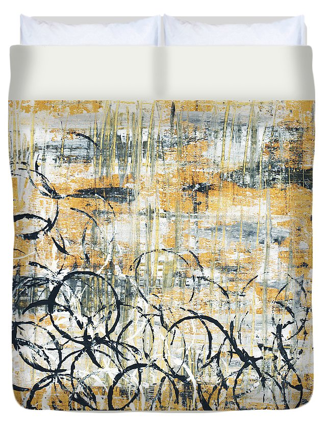 Painting Duvet Cover featuring the painting Falls Design 3 by Megan Duncanson