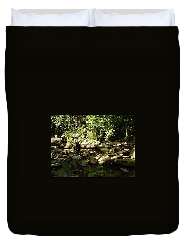 Falls Park Duvet Cover featuring the photograph Falls Park by Flavia Westerwelle