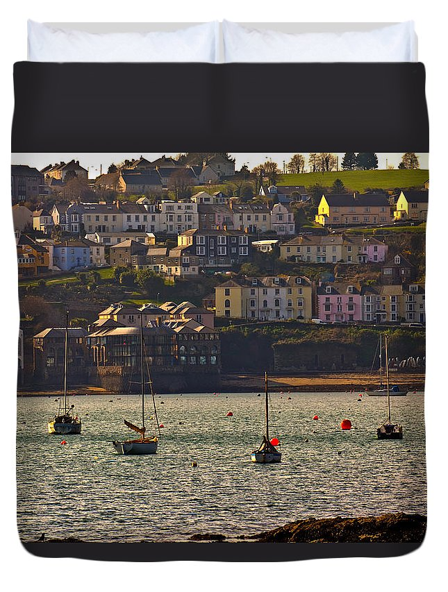 Falmouth Duvet Cover featuring the photograph Falmouth Greenbank by Brian Roscorla